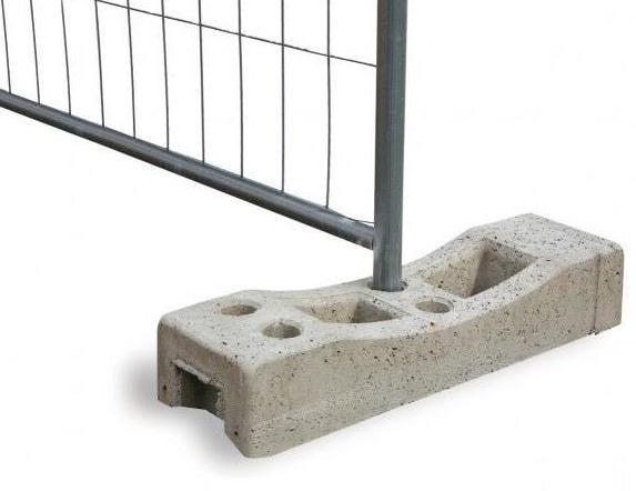Blocchetti Di Cemento Per Recinzioni.Base Cemento Per Recinzione Provvisoria De Rosa Srl