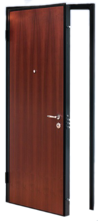Porta Blindata 85x210 Cl3 Mogano Medio Alias De Rosa Srl