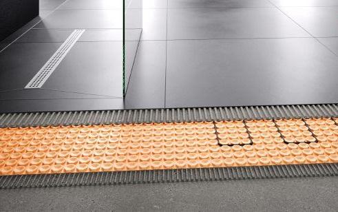 Set serpentina x pav bagno mq 5 schluter riscaldamento a - Riscaldamento per bagno ...