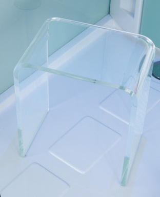 Sgabello plexiglass trasparente grandfoam de rosa srl for Sgabello plexiglass doccia