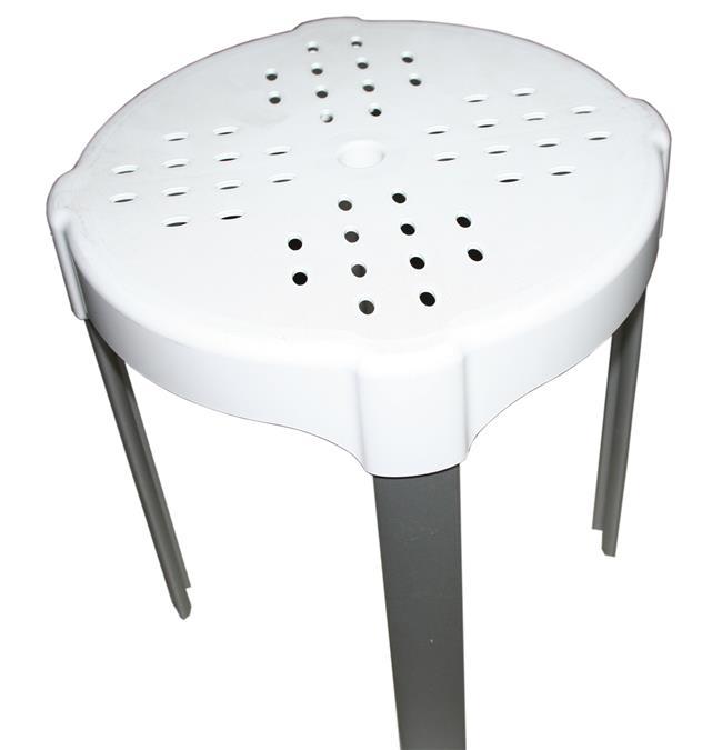 Sgabello da bagno h 38 bianco k design portata max kg 150 for Sgabello bagno design