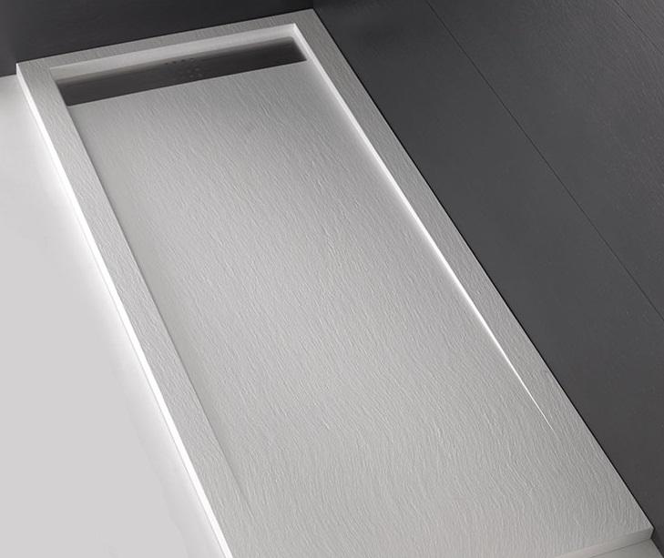 Piatto doccia 120x80 trendy ardesia bianco acquabella - De Rosa Srl