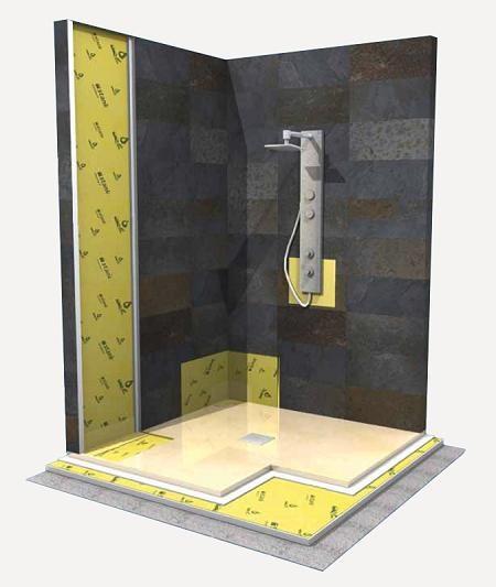 kit impermeabilizzazione doccia 120x120 per doccia filo