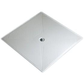 Piatto doccia 78x78 vetroresina filo pavimento con piletta for Piletta doccia filo pavimento