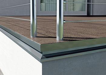 Profilo balcone allum tdm ral8017 10x2 70 ml goffrato drenante con