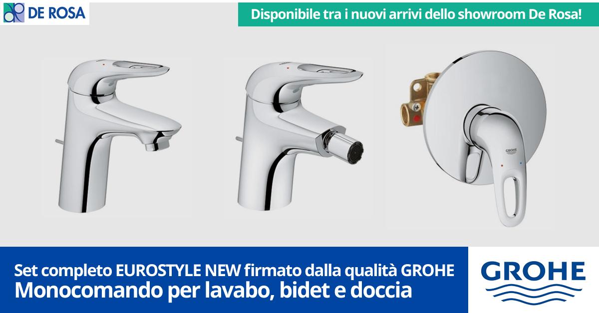 Rubinetterie Ed Accessori Napoli.Set Coordinato Rubinetterie Grohe Eurostyle New De Rosa Edilizia A