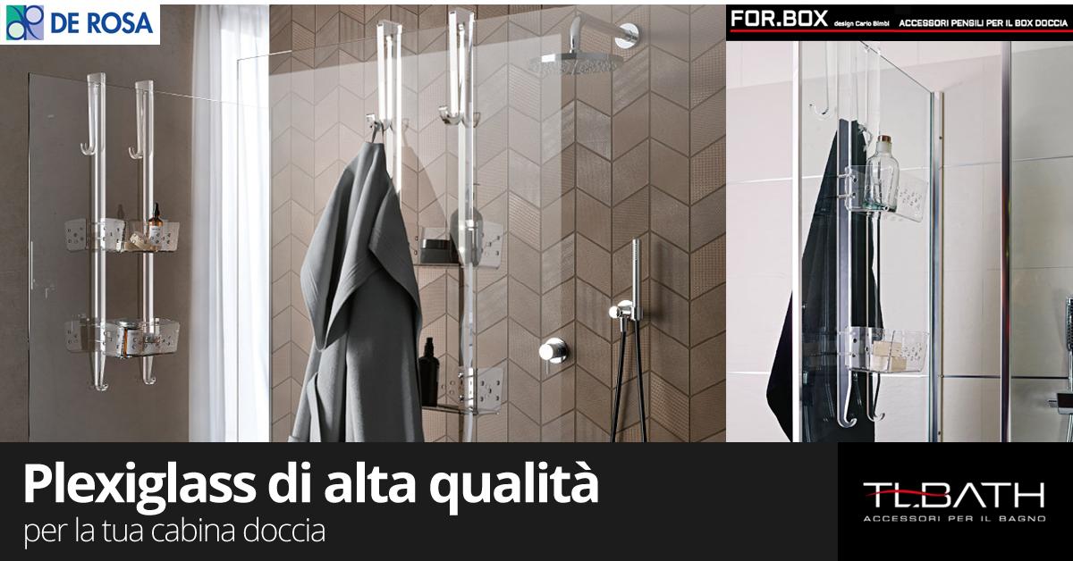 Griglia trasparente per doccia a 2 ripiani de rosa edilizia a